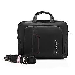 QANSI Waterproof Shockproof Bag PC Laptop/Notebook/Tablets/MacBook Briefcase Case Messenger Bag Pouch Holder Organizers 15-15.6 Inch Black