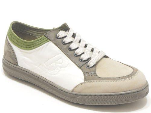 Barracuda scarpa uomo sneaker in nabuk e nylon colore grigio e ghiaccio nr 45