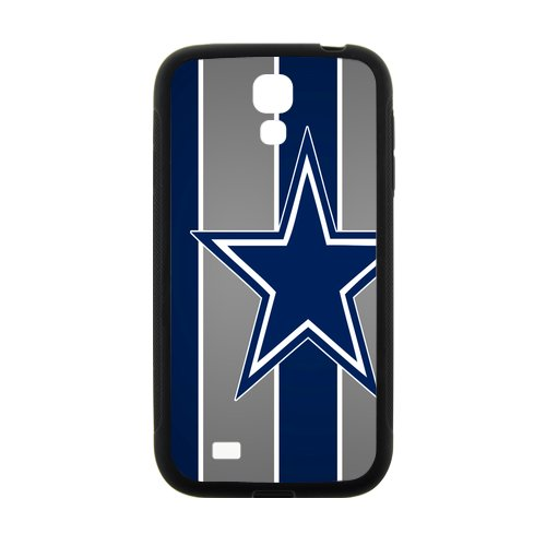Atnee Blue And Gray Color Stripe Star Design Dallas-Cowboys Skin Sleeve Cover For Phone Samsung Galaxy S4 I9500 (Laser Technology)