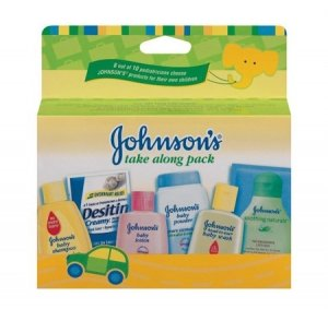 Johnson & Johnson Baby Take Along Travel Pack (Baby powder, Wash, Shampoo, Lotion, Desitin) - 1