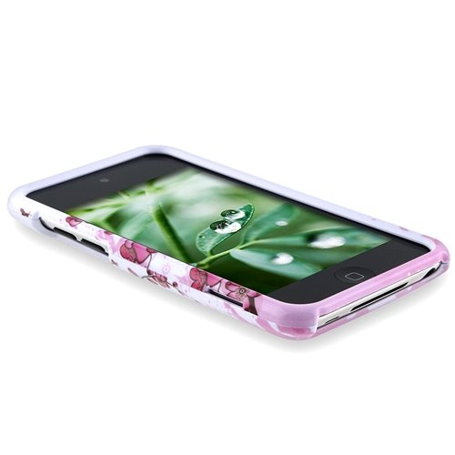 Snap-On Protector Hard Case for iPod Touch 4th Generation / 4th Gen – Spring Flower Design