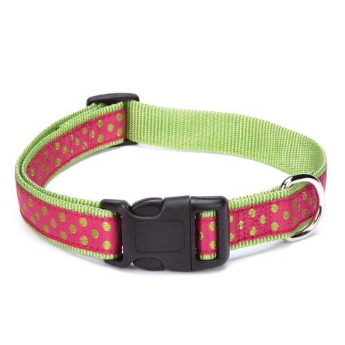 East Side Collection Nylon Polka Dot Dog Collar, 1