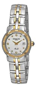 Raymond Weil Women's 9440-STG-97081 Parsifal Diamond Accented 18k Gold-Plated and Stainless Steel Watch