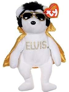 "GRACELAND ELVIS PRESLEY TEDDY BEAR WHITE 12"" STUFFED ... |Elvis Presley Stuff Animal"