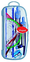 Maped Metal Open Compass - 9 Pcs Set - (Colors May Vary)