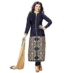 StarMart Women's Cotton Salwar Kameez Dress Material(SM-126_black)