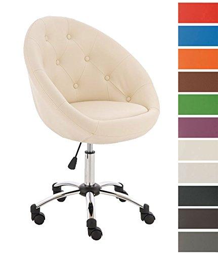 CLP-Design-Brostuhl-LONDON-auergewhnliches-Design-hoher-Sitzkomfort-Sitzhhe-51-63-cm-5-cm-dicke-Polsterung-creme