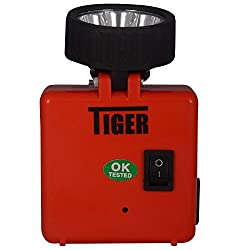 Tiger Rechargeable Multipurpose LED Torch (Red)