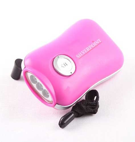 Silverpoint Ozone Lady Pink LED Wind Up Torch