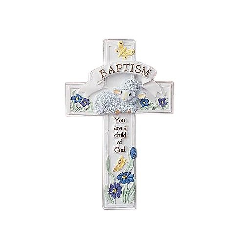 Abbey Press Baptism Cross Adornment, 2.75 x 4.5""