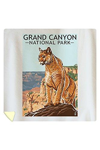 Grand Canyon National Park - Mountain Lion (88x88 Queen Microfiber Duvet Cover)