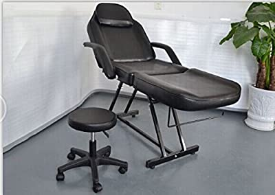 73'' Portable Tattoo Parlor Spa Salon Massage Folding Chair Bed 0015 Black