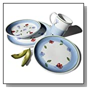 Caleca Petali 16-Piece Dinnerware Set, Service for 4