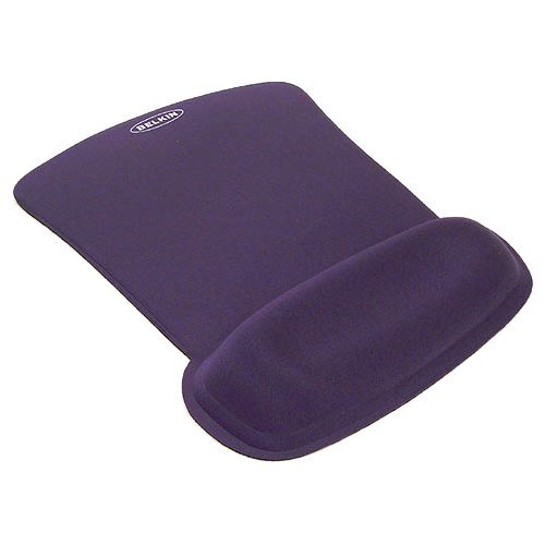 Blue Wave Rest Gel Filled Cushion Mouse Pad W/ Wrist Rest