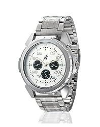 Yepme Men's Multifunctional Watch - White/Silver -- YPMWATCH2351