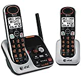 VTech DECT 6.0 Dual Handset Cordless Phones with Big Buttons, Large LCD and Font, ITAD, Caller ID, and Handset Speakerphones Silver/Black