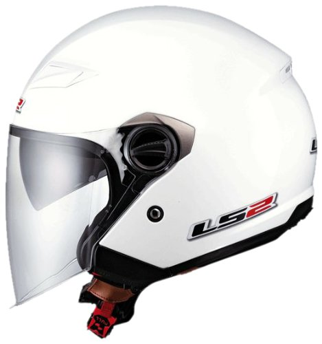 LS2 Helmets OF569 Open Face Motorcycle Helmet (Solid Pearl White, X-Small)