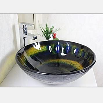 jjg farbe handbemalt runde glas schiff sp lbecken mit. Black Bedroom Furniture Sets. Home Design Ideas