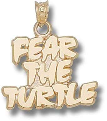 Maryland Terrapins Fear the Turtle 5 8 Pendant - 14KT Gold Jewelry by Logo Art