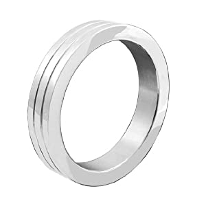 M2M Metal C-ring, Stainless Steel With Grooves, Includes Bag, 2.0