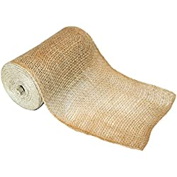 "Classic Rustic Burlap Roll [NO-FRAY EDGES] - 6"" x 10yd - Low Density Fabric by RichCraft"