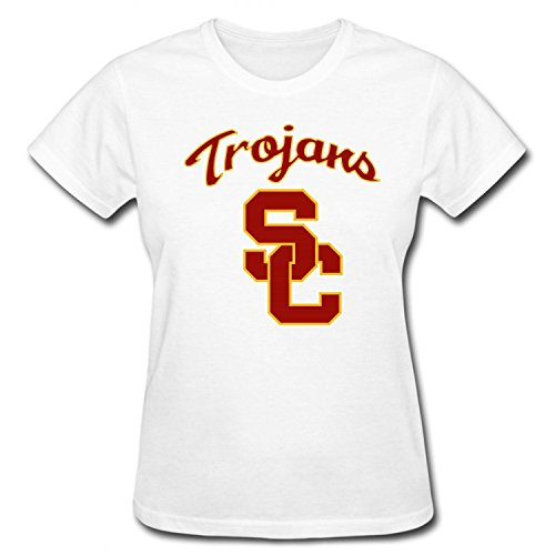 CD&DC Women's NCAA University of Southern California USC Trojans Logo Cotton T-shirt