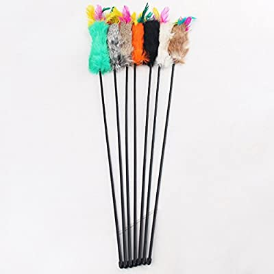 55cm Feather Teaser Wand Pet Cat Toy Kitty Cat Toy Pet Play Fun
