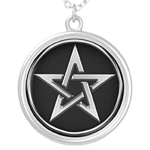 Silver Pentagram 2 Personalized Necklace