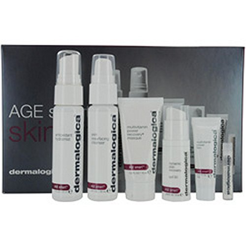 Dermalogica by Dermalogica Age Smart Kit: Cleanser + Mist + Masque + Power Firm + MAP-15 + Day Cream + Lip Complex --7pcs for WOMEN (Package Of 6)