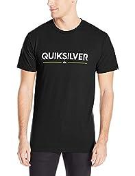Quiksilver Men\'s Wordmark T-Shirt, Black, Medium