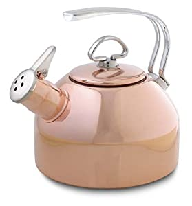 Chantal Copper Classic Tea Kettle-1.8 Quart