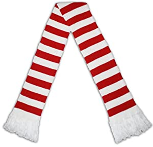 Holiday Scarf - Premium Candy Cane Scarf in Red/White by Skedouche