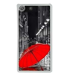 Red Umbrella 2D Hard Polycarbonate Designer Back Case Cover for Sony Xperia M5 Dual :: Sony Xperia M5 E5633 E5643 E5663
