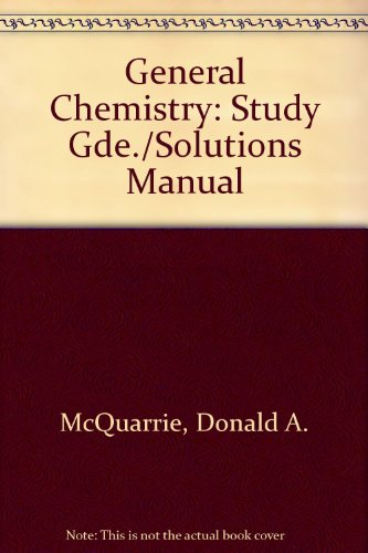 General Chemistry: Study Guide