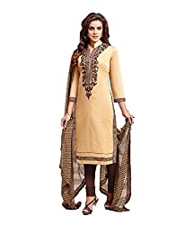 KANHA TRADING Women's Chanderi Cotton Dress Material(KANHA TRADING 722_Multicolor_Freesize)