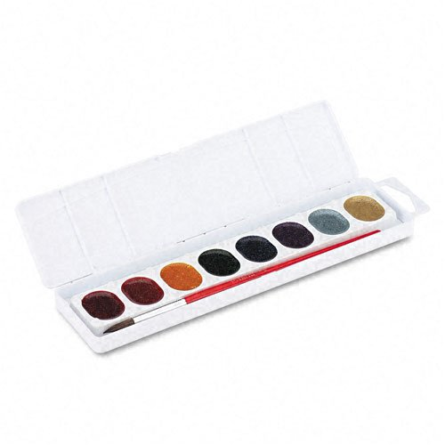 Dixon : Glitter Washable Watercolors, Eight Assorted Colors per Set -:- Sold as 2 Packs of - 1 - / - Total of 2 Each