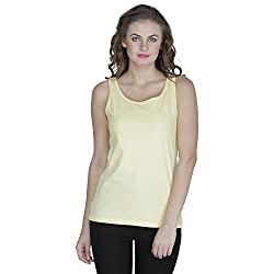 RAMPWALK Women's Sleevless Top (FYIAW15-TP03-01-99-10-03, Yellow, Small)
