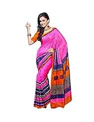 Nistula Bhagalpuri Silk Saree With Unstitched Blouse Piece - B00LUHCYCY