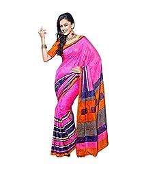 Nistula Bhagalpuri Silk Saree With Unstitched Blouse Piece [MA6007-A_Pink] | Marhab6007-A