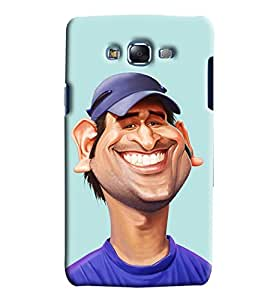 Clarks Ms Dhoni Inspired Hard Plastic Printed Back Cover/Case For Samsung Galaxy J7