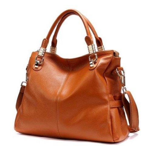 Genuine Leather Luxury Women Shoulder Handbag Totes Hobo Shoppers Square Bag