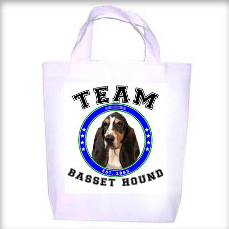Basset Hound TRI TEAM Shopping - Dog Toy - Tote Bag