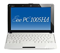 ASUS Eee PC 1005HA-VU1X-WT 10.1-Inch White Netbook - 8.5 Hour Battery Life