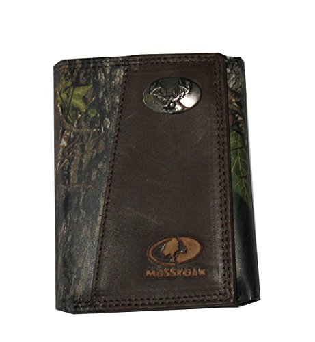 Deer - Mossy Oak Full Leather Tri-Fold