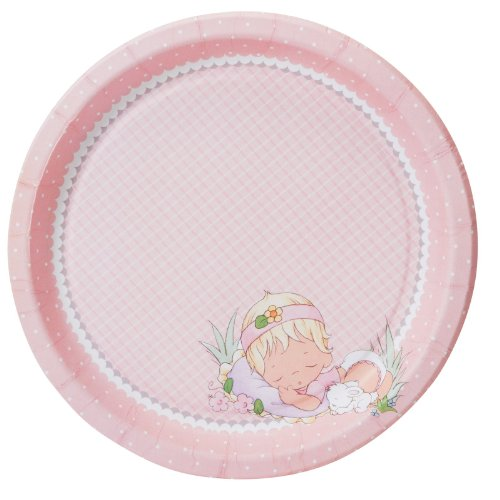 Precious Moments Baby Girl Dinner Plates Party Accessory
