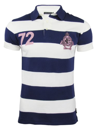 Mens FCUK/ French Connection 72 Striped Polo T-Shirt