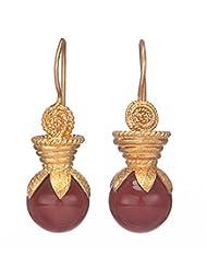 Amethyst By Rahul Popli Clear Gold Plated Stud Earrings