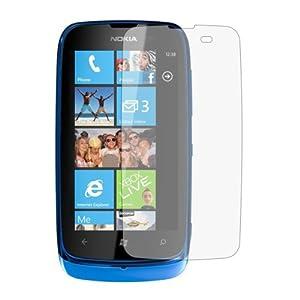 6 x Membrane Pellicola Protettiva per Nokia Lumia 610 - Crystal Clear (Invisible), Antigraffio Protezione Schermo, Confezione Originale ed accessori