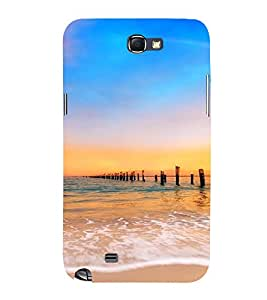 PrintVisa Travel Beach Sunset Design 3D Hard Polycarbonate Designer Back Case Cover for Samsung Galaxy Note 2