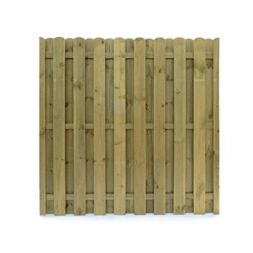 Sichtschutz Holz Kesseldruckimprägniert ~   Holz 180×180 Dichtzaun Sichtschutz Element 3 teilig Holz KDI